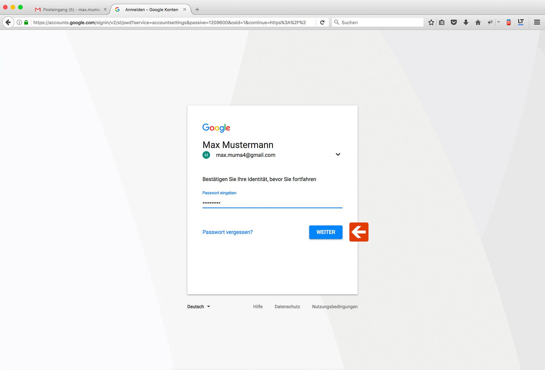 Google Two-Factor-Authentication Step 5