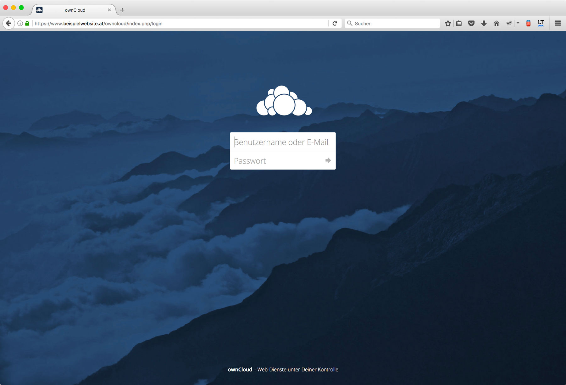 Install Owncloud on Web Hosting Package Step 7