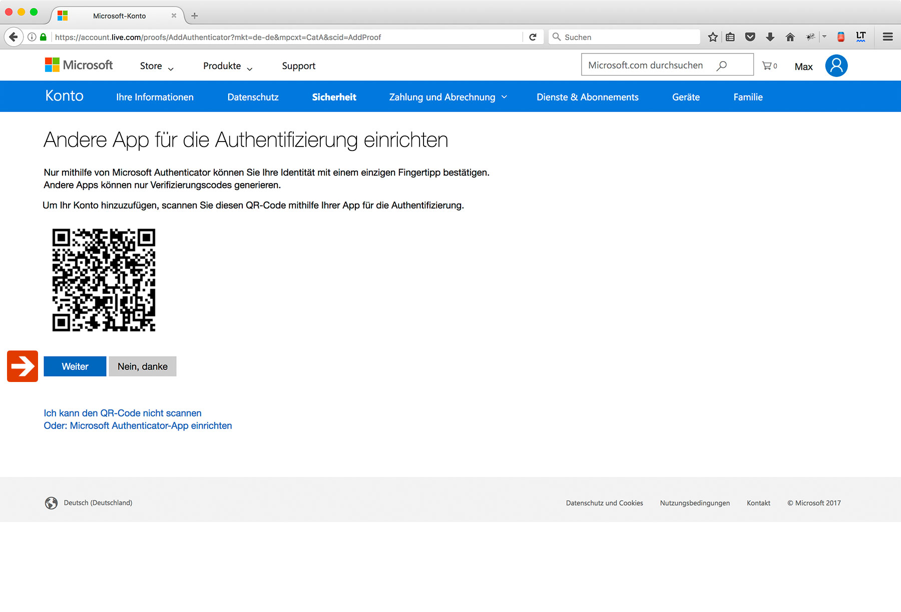 Outlook Two-Factor Authentication Step 8