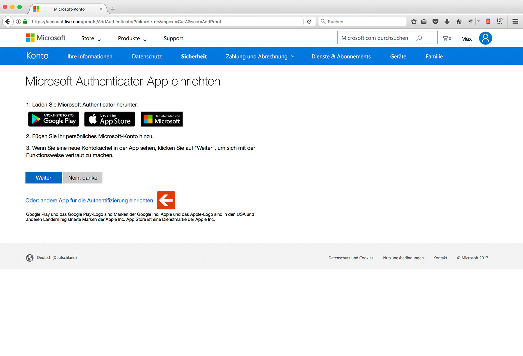Outlook Two-Factor Authentication Step 7