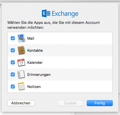 Synchronisation in Apple Mail